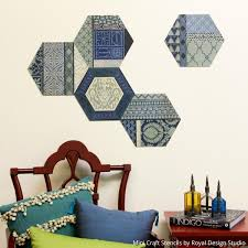 diy tutorial use craft stencils to make mix and match wall art