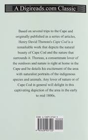 cape cod henry david thoreau 9781420927122 amazon com books