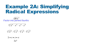 chapter radical expressions objectives rewrite radical