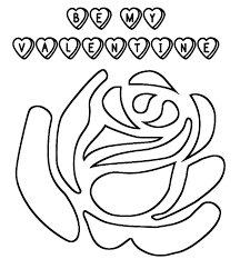 valentine flower coloring pages flower valentine coloring page