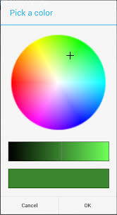 android color hsv color picker dialog buzzing android