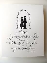 wedding quotes shakespeare letterpress print now join your and with your
