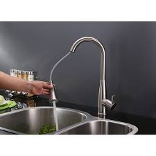 kitchen faucet stainless steel ruvati rvf1228st pullout spray kitchen faucet stainless steel