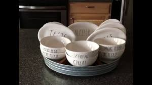 a fun and unique way to display your rae dunn ovals and bowls