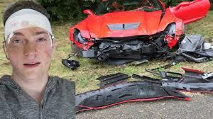 corvette car crash crashed my dads corvette z06 prank supercar car crash prank