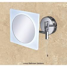 aries luxury designer illuminated led magnifying bathroom mirror