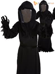 Grim Reaper Halloween Costumes Childrens Grim Reaper Fancy Dress Costume Ghost Halloween Childs