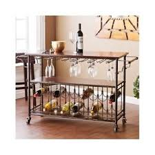 rolling kitchen cart island movable wine rack portable bar wooden
