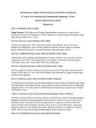 structured digital design syllabus jntuk 4 2 ece logic synthesis