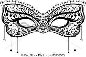 lace mask carnival black lace mask carnival mask vector