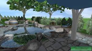 Infinity Pool Backyard by Cad 3d Infinity Pool Spa Area Youtube