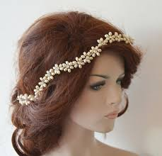 hair accesories wedding headband bridal pearl hair vine bridal headband bridal