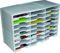 Amazon Organizer Amazon Com Storex 24 Compartment Literature Organizer Document