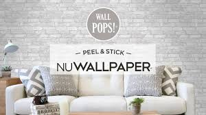 apartment makeover with peel u0026 stick wallpaper youtube