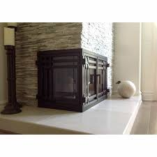 mission l shape fireplace door 18 ams fireplace inc