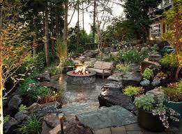 Best  Sloped Backyard Ideas On Pinterest Sloping Backyard - Backyard hardscape design ideas