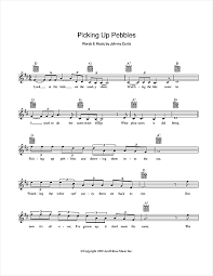 Picking Sheet Picking Up Pebbles Chords By Matt Flinders Melody Line Lyrics