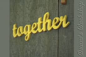wooden letters home decor together sign wedding decoration wall hanging cottage wooden