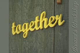 together sign wedding decoration wall hanging cottage wooden