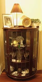 Art Deco Round Display Cabinet Art Deco Cintage Half Round China Cabinet Display In Stock