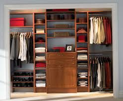 captivating closet storage systems wood construction cherry finish