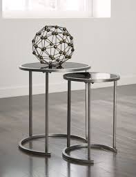 Glass Living Room Table by Furniture Bronze Side Table Round Nesting Tables Triangle