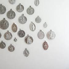 religious pendants 12 vintage religious pendants metal catholic by lastcentury