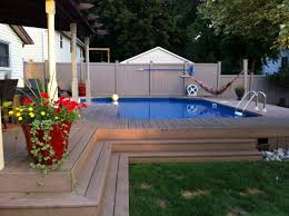 Nice Backyard Ideas by Onground Pool Swimmingpool Pool Summer Our Pools Pinterest