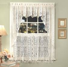Ladybug Kitchen Curtains by Hopewell Lace Kitchen Curtain Available In White Or Cream