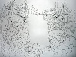 hell and heaven by eg thefreak on deviantart will s black and