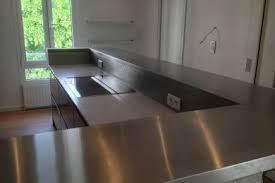 plan de travail inox cuisine plan de travail inox pour votre cuisine et salle de bain