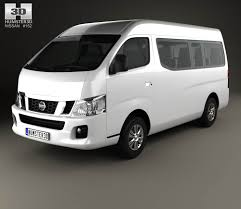 nissan urvan nv350 lwb hr 2012 3d model wheels pinterest