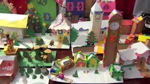 holiday craft christmas village with christmas songs by toyland