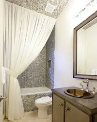 small bathroom window curtain ideas your bathroom look larger with shower curtain ideas