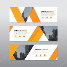 layout banner design orange triangle abstract corporate business banner template