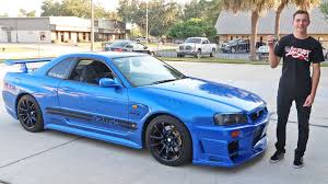 nissan r34 paul walker driving an r34 skyline gtr in the usa custom darlings