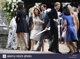 Englefield Berkshire Roger Federer And His Wife Mirka Leave St Mark U0027s Church In Stock