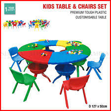 Activity Table For Kids Multi Colour Chairs And Tables For Children Ebay
