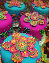 beautiful blue cake cakes colorful image 430423 on favim com