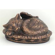cat urn sleeping angel cat cremation urn ashes pet feline