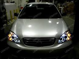 toyota corolla 08 03 08 toyota corolla black halo projector headlights with led lights