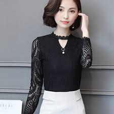 sleeve lace blouse shop 2017 autumn lace blouse sleeve fashion