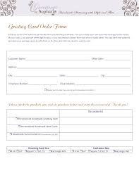 invitations greeting card order form