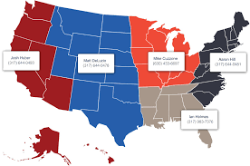 Usa Carry Maps by Look Map Of Where Americans Nfl Teams The Most Cbssportscom
