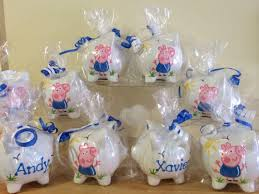 piggy bank party favors personalized peppa pig party favor piggy banks 1st birthday
