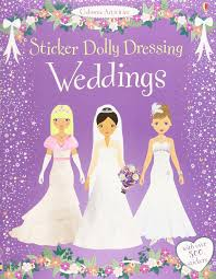sticker grand format sticker dolly dressing weddings amazon co uk fiona watt
