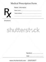 prescription note representing doctors medicine remedy stock photo