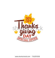 happy thanksgiving day event typography text stock vector