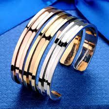 metal bracelet women images Hair tie cuff bracelet rubber band holder stainless steel bangle jpg