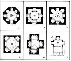 romanesque floor plan 2 4 baptisteria quadralectic architecture